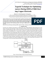 Application of Taguchi Technique for Optimizing the Input Parameters During EDM of Mild Steel Using Copper Electrode