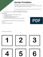 Calendar Printables