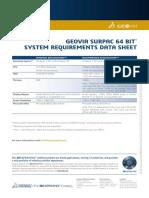 GEOVIA Surpac SystemRequirements 64bit 6.8