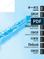 Guide to Care of Yahama Oboes