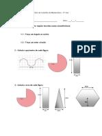 Ficha de Trabalho de Matemática - Áreas de Polígonos Regulares