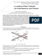 Performance Analysis of Inter-Vehicular Communication in Vanet Based on Aodv Protocol