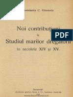 Noi contribuţiuni la studiul marilor dregători în sec. XIV şi XV