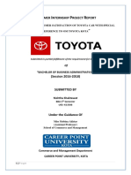 Customer satisfaction of Toyota Car