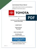 Customer satisfaction of Toyota Car