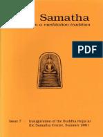 Samatha Journal  7 - Summer 2001