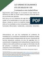 El Desarrollo Urbano de Salamanca