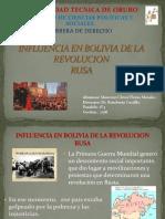 Influencia en Bolivia de Las Revolucion