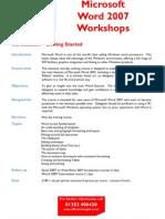 Microsoft Word 2007 Workshops