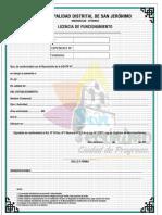 Licencia de Funcionamiento San Jeronimo