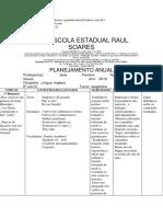 Planejamento Anual de Inglês (2018 - 6º Ano)