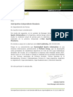 Pedido Acreditacion Anual Independiente Rivadavia