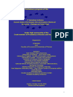 2nd International Conference Economic System of the European Union and Accession of Bosnia and Herzegovina – Challenges and Policies Ahead