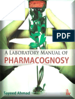 A Laboratory Manual of Pharmacognosy - Ahmad Sayeed