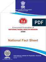 Concurrent evaluation of National Rural Health Mission – India, 2009