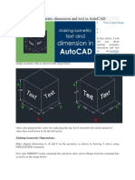 How to Make Isometric Dimension and Text in AutoCAD