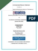 Summer Internship Report  on digital banking