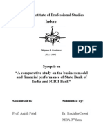 Synopsis on Comparative Study on ICICI and SBI