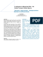 From Safety Indicators to Measuring Risk – the Risk-Guided Transport Safety Agency