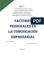 Factoes Personales en La Comunicacion Empresarial.