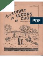 Millet, Rossignol, Mon Livret de Leçons de Choses, Exercices Dobservation CE (1961)
