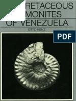 Renz (1982)CretaceousAmmonitesFromVenezuela