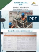 Reporte Semanal Nº 03 Al 14-09-18