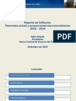 Reporte de Inflacion Setiembre 2018 Presentacion