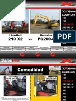210X2 vs Komatsu PC200-8