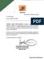 certificado natacion