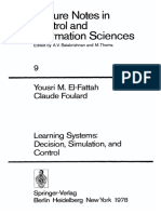 [Lecture Notes in Control and Information Sciences 9] Dr. Yousri M. El-Fattah, Professor Claude Foulard (Eds.) - Learning Systems_ Decision, Simulation, And Control (1978, Springer-Verlag Berlin Heidelberg)