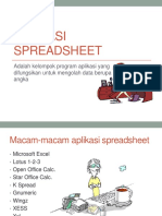 Aplikasi Spreadsheet