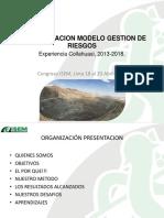 Implementacion Modelo de Gestion de Riesgo Experiencia 2013 2018