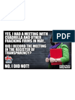 Energy Minister Claire Perry Failed to Record a Meeting With Cuadrilla & Other Fracking Firms on Parliament's Transparency Register