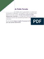 23 Poemas de Pablo Neruda