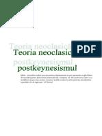 Teoria Neoclasica Si Postkeinesism