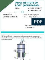 Multi Effect Evaporator