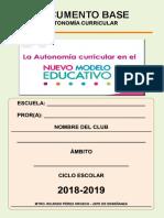 Documento Base Para Un Club