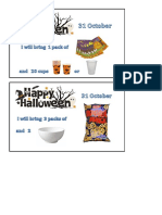 Halloween Buffet Ideas for the students