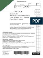 January 2012 QP - S1 Edexcel