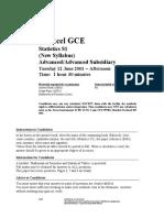June 2001 QP - S1 Edexcel