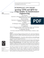 Integrating TPM and QFD