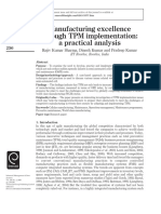 Manufacturing Excellence TPM