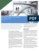 HP ProLiant Essentials Virtual Machine Management Pack