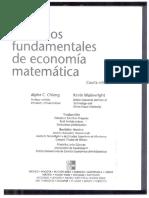 Metodos Fundamentales de Economia Matematica