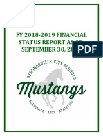 Cash surplus is $38,480,148 for Strongsville City School District (SCSD) as of Sept. 30th, 2018 without passage of another school tax levy