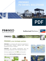 PROINSO PV Diesel Solutions