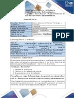 Guía de Actividades y Rúbrica de Evaluación - Fase 2 - Selección de Antenas Caracterización y Parametrización.