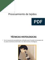Procesamiento de Tejidos- HISTOLOGIA DR