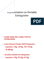 A Presentation on Portable Extinguisher